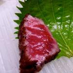 An unimprovable Shinshu beef (信州和牛) tataki - there were originally six slices