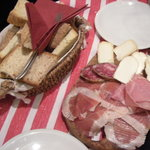 Our selection of meats and cheeses