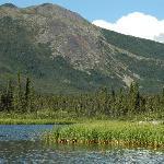 Lake and ridge behind the lodge