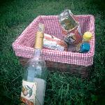 Picnic basket they made for us.. wine from a vineyard near by