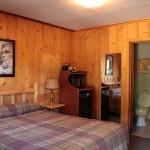 Cabin van binnen.