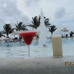 Pool side drinks