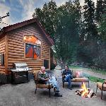 Lodge with Patio and Fireplace and Wyoming Sky
