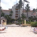 View from beach of Hotel