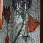 The rainshower with our tulips in mosaic
