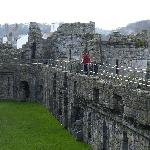 Walking round the outer wall.
