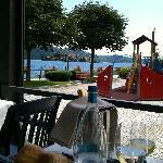Vista panoramica sul lago d'Orta e Isola di San Giulio