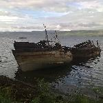 abandoned boats near Salen