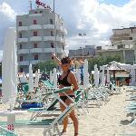 l'Hotel Argentina visto dalla spiaggia