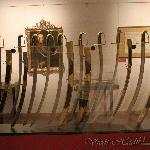 Display case of cavalry swords