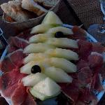 Melon with Serrano Ham starter - El Puerto