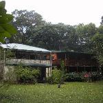 Accommodation plus breakfast area (top left veranda)