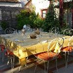 Le repas sur la terrasse