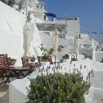 The upper terrace