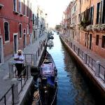 One of the beautiful canals with a gondolier