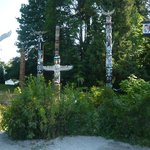 Stopping at the Totem Poles at Stanley Park