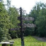 Säperstelle - hier scheiden sich die Wege - entweder über das Kreuz des Deutschen Ostens oder di