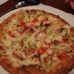 Delicious Chicken and Artichoke pizza!