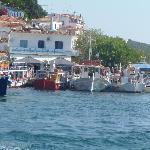 Skiathos town harbour