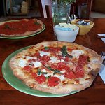 front: Pizza Margherita, back: Tomatoe pie