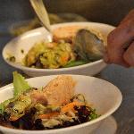 Préparation des plats, produits frais et savoir faire dans votre assiette