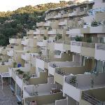 Vue des chambres terrasses