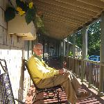 Grandpa on the front porch.