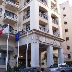 entrée du victoria hôtel, sliema, MALTE
