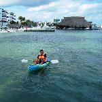 Using the resort's sea kayaks
