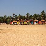 sea fronting huts