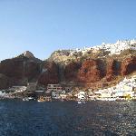 Oia high above Amoudi Bay