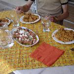 A part of the food we made.