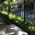 Balcony of the restaurant