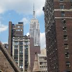 Empire State Building right outside our room!