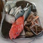 il carrello del pesce fresco