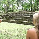 Mayan Ruins with tour guide Vince
