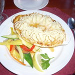 The seafood pie at the Tugboat Inn is quite an experience.