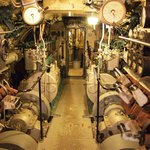 Photo from inside the submarine.