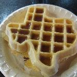 Texas Shaped Waffle at Continental Breakfrast