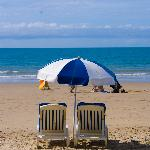 Very close to gorgeous beach - loungers and watersports equip for hire as well as a handy little