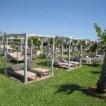 Partie proximale de la plage privée de l'hôtel