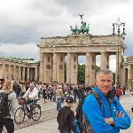 Jeremy at the Brandenburg Gate