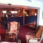 Reception & bar in hotel