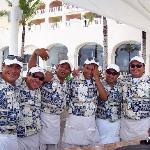L-R.Juan,Chubby,Henri,Roger (the ghost waiter,Heiler,Charnin)