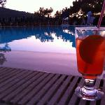 Evening beverage by the pool!