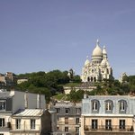 AMAZING VIEW ON THE SACRE COEUR FROM A ROOM ON THE 06TH FLOOR- LE REGENT HOSTEL MONTMARTRE PARIS