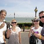 Ice Cream stop (Graham on the left)