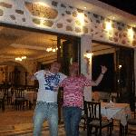 Me and Friend at the Flora Taverna