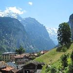 Valley view from Lauterbrunnen