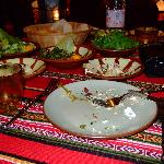 Yummy arabic food in al hadeera outdoor restaurant